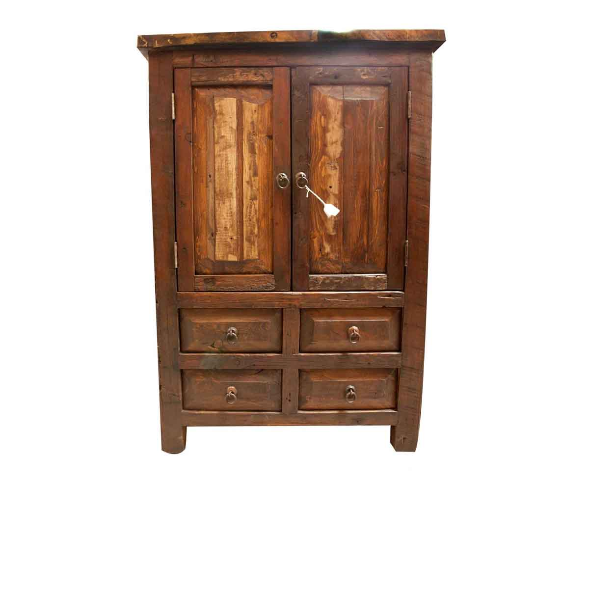 Buy ezra reclaimed armoire online old wood cabinet for sale for Wood cabinets