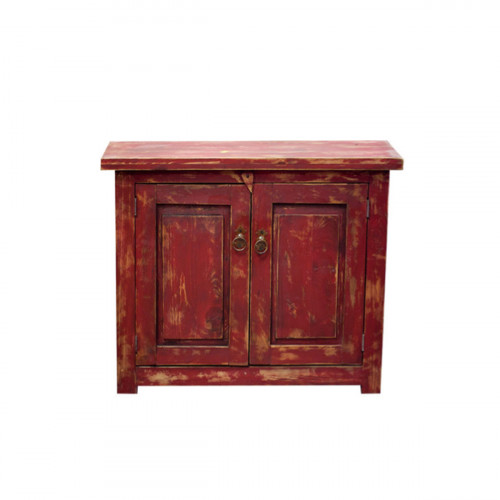 small red vanity