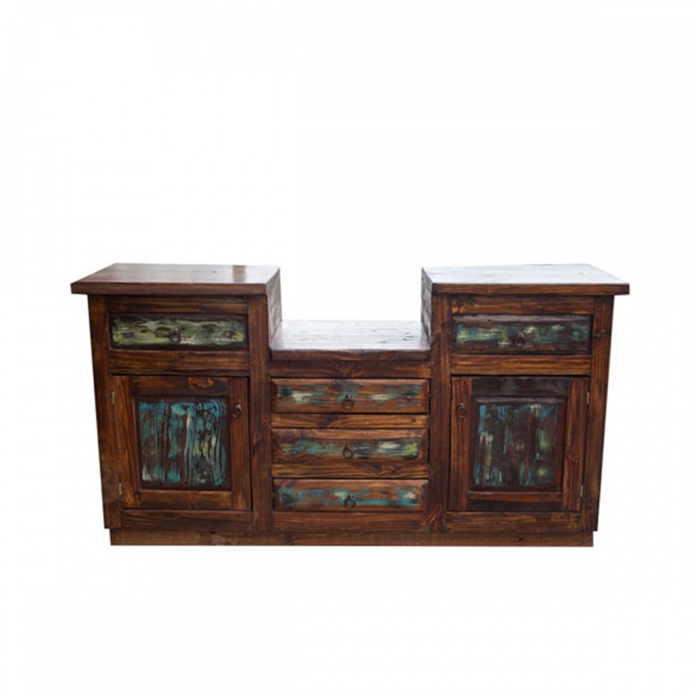 double sink barnwood vanity