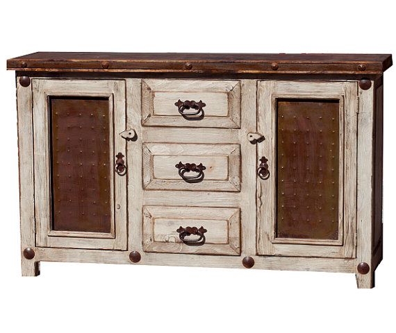 15814 - White Wash Rustic Bathroom Vanity
