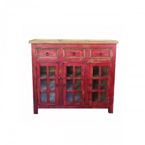Distressed Red Vanity 34533