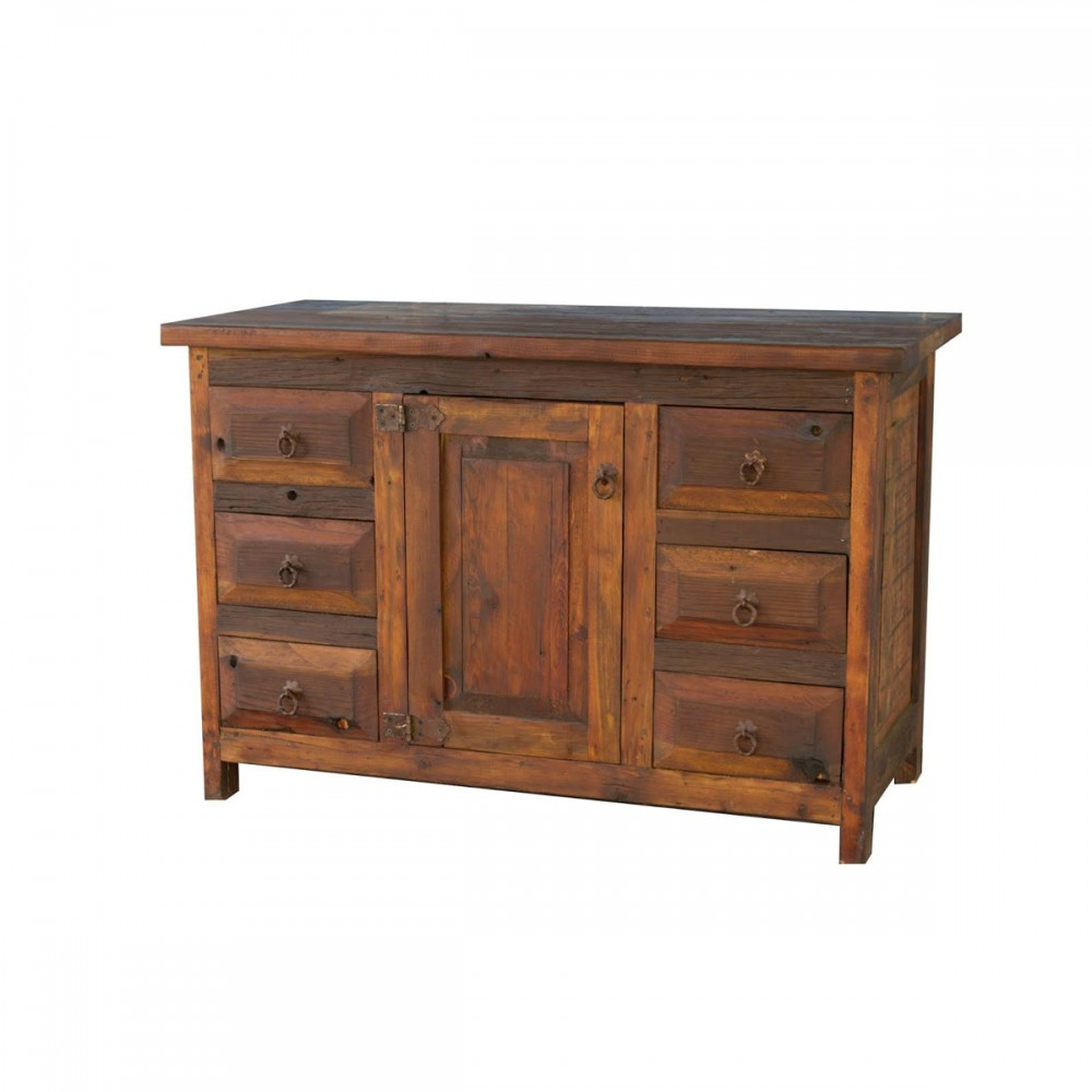 Old Wood Rustic Bathroom Vanity 72910