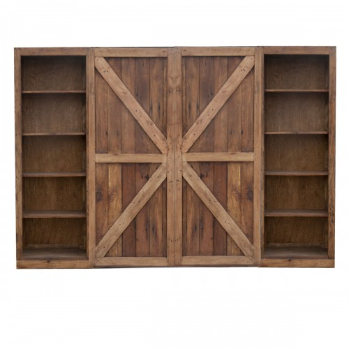sliding barn door t.v console