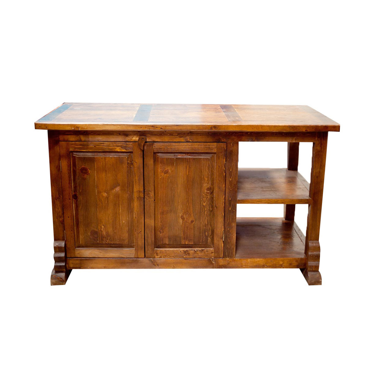 purchase rustic kitchen island with double doors and
