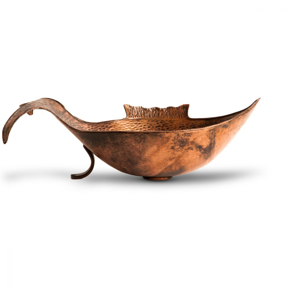 fish copper vessel sink