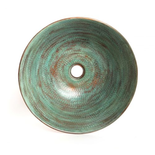 turquoise copper sink