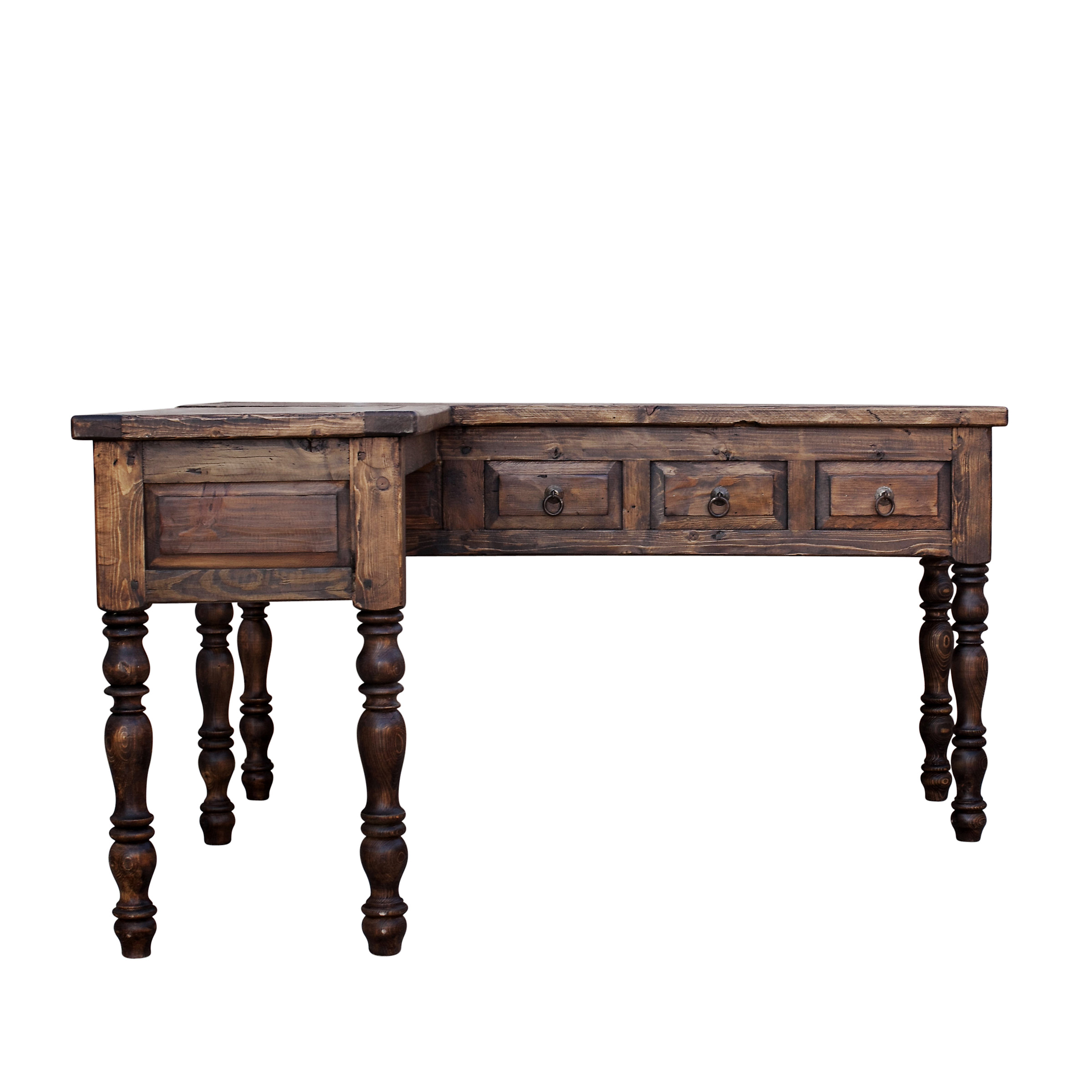 Newton L Shaped Reclaimed Desk  . Full resolution  img, nominally Width 2400 Height 2400 pixels, img with #7F5D4D.