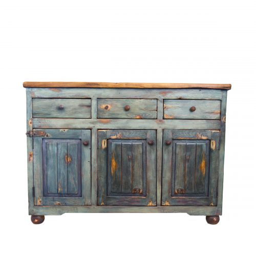 urban rustic bathroom console