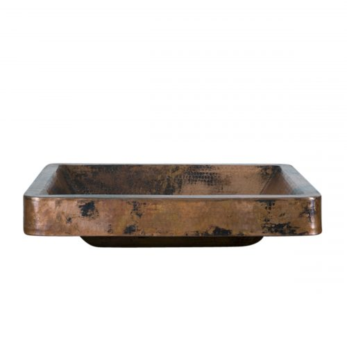rectangle vessel copper sink