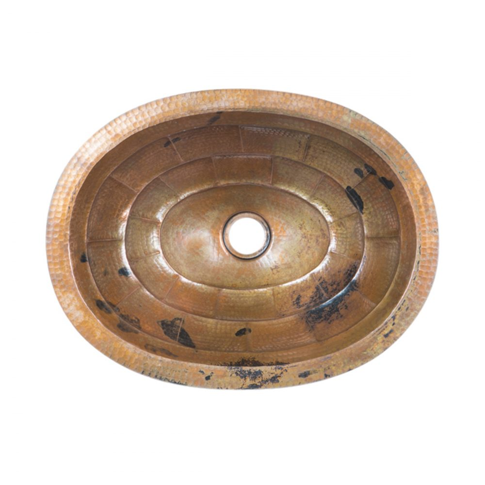 Turtle Shell Oval Drop In Copper Sink