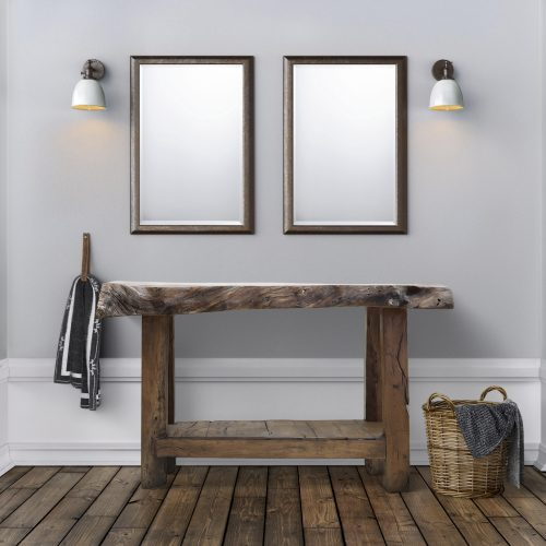 Popular Rustic Chic 48 Vanity Weathered Oak Rustic Pine Bathroom Vanity