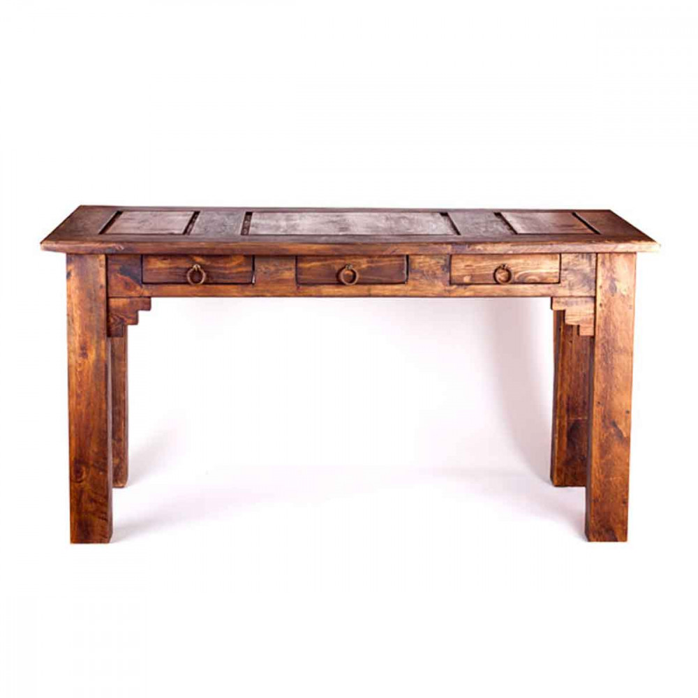 Buy Samera Rustic Desk with 3 Drawers Online
