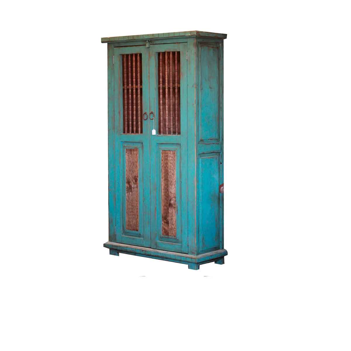 turquoise linen cabinet