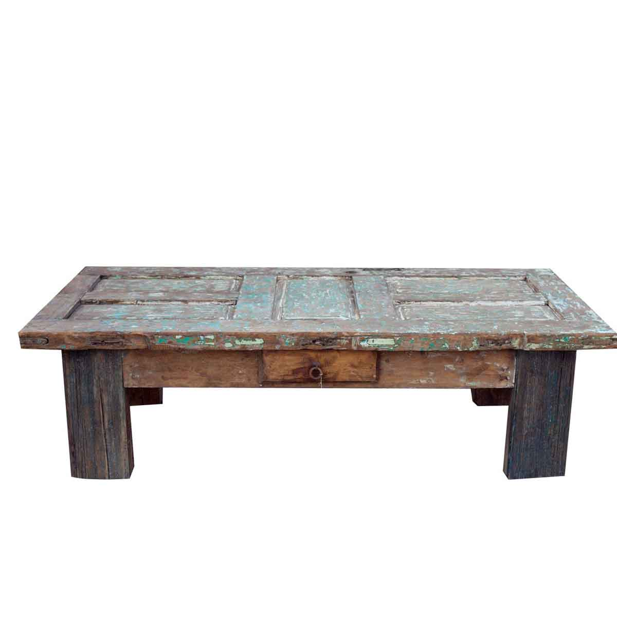 Order blanco reclaimed coffee table online crafted from a white reclaimed barn door Coffee tables online