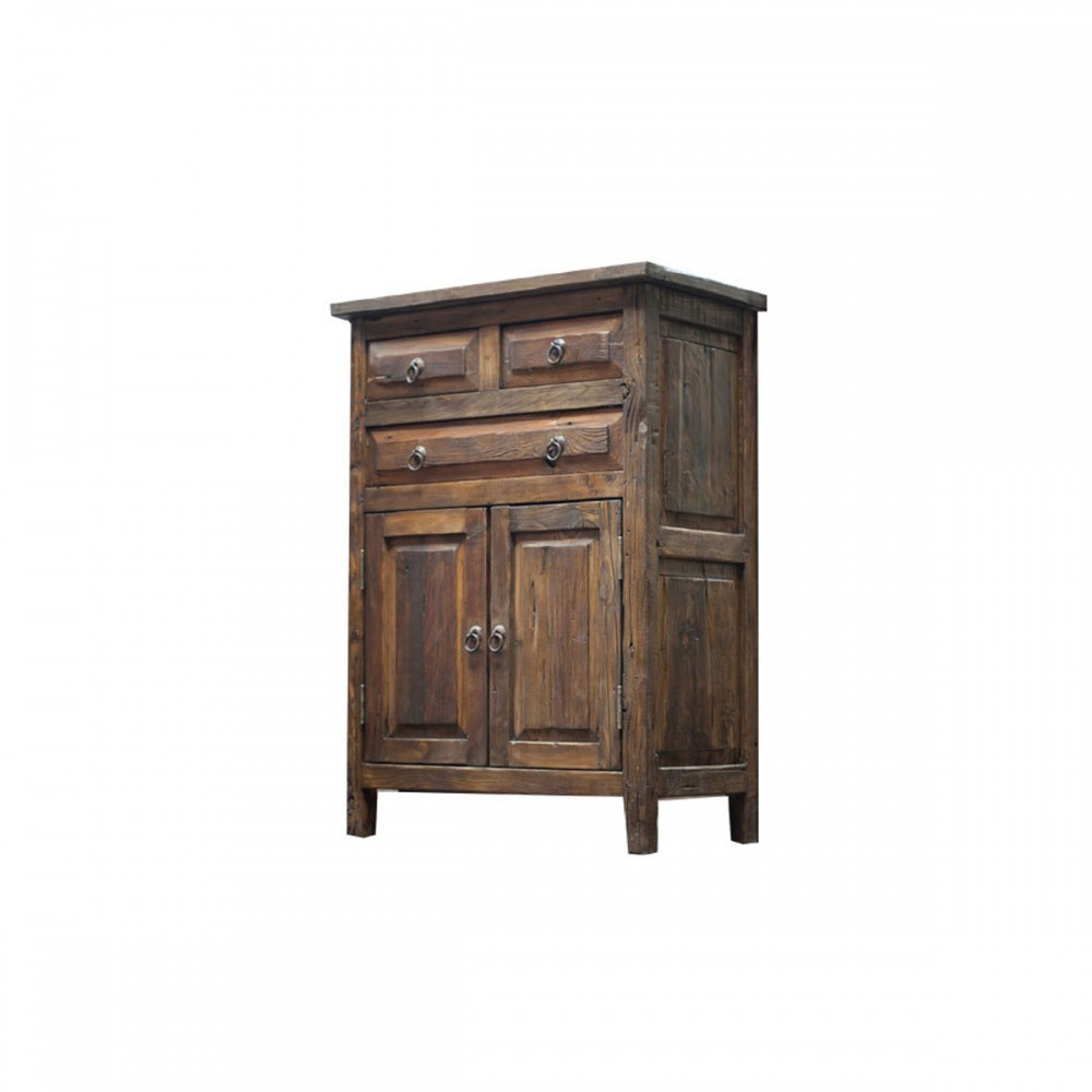 Buy 3 drawer reclaimed wood vanity with unique design online for Buy reclaimed wood online