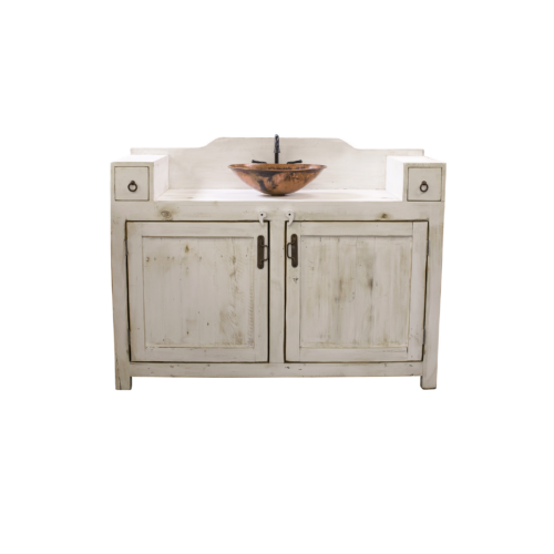 gwenn rustic farmhouse white vanity