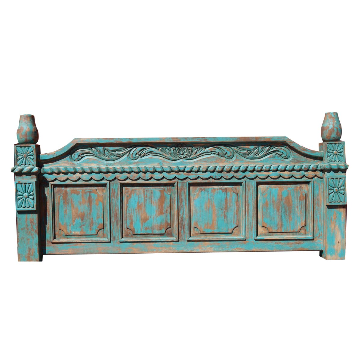 Buy Carved Turquoise Bed Online
