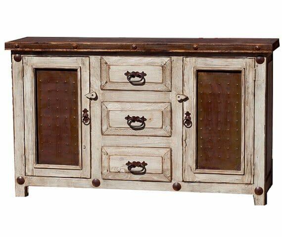 15814 - White Wash Rustic Bathroom Vanity