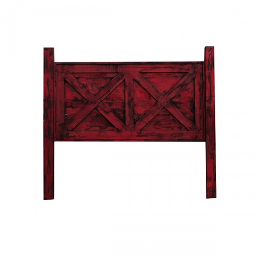 red rustic bed