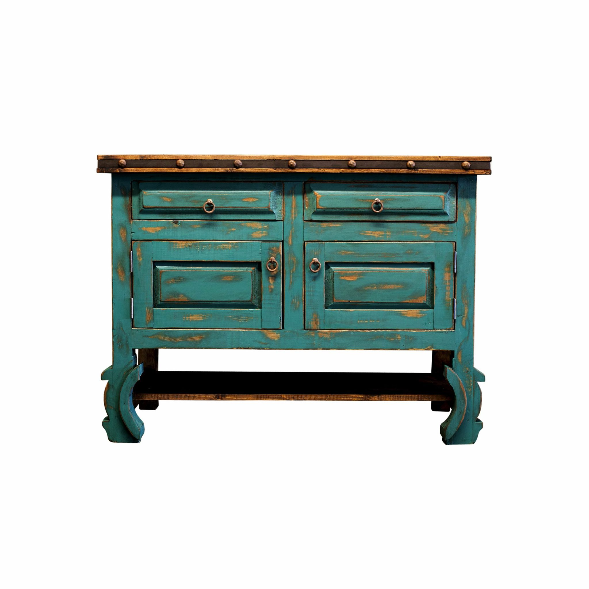 Buy Rustic Turquoise Bathroom Vanity line
