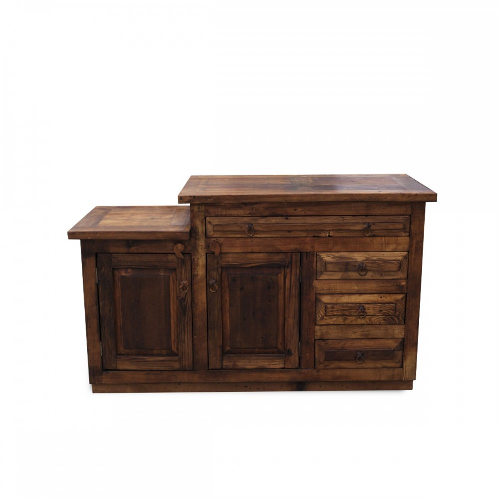 rustic vanity with level