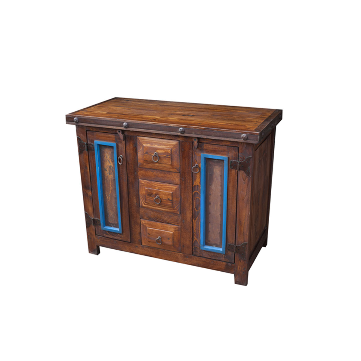 Order Unique Blue Rustic Vanity Online