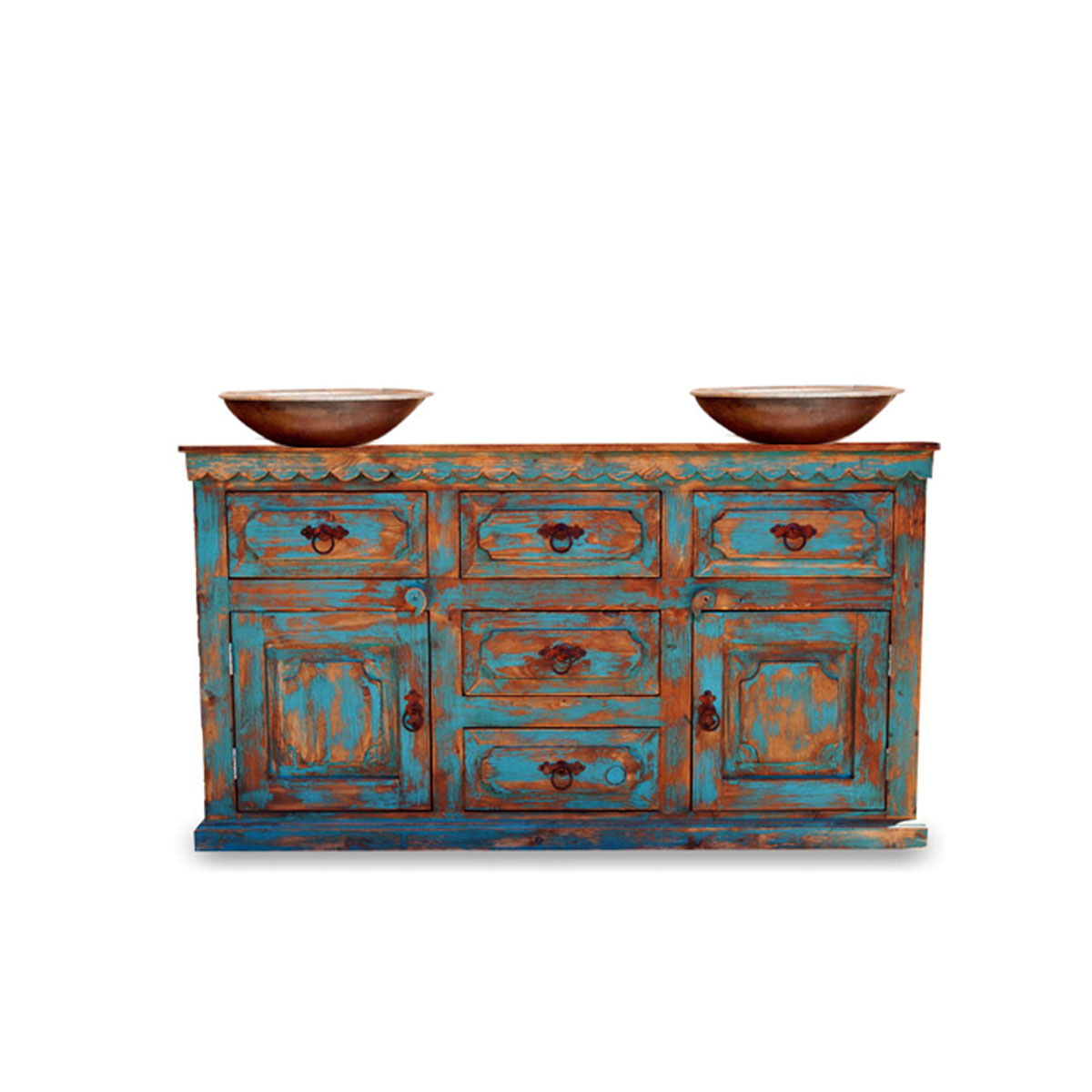 Rustic painted furniture - Buy Anson Distressed Rustic Vanity For A Double Or A