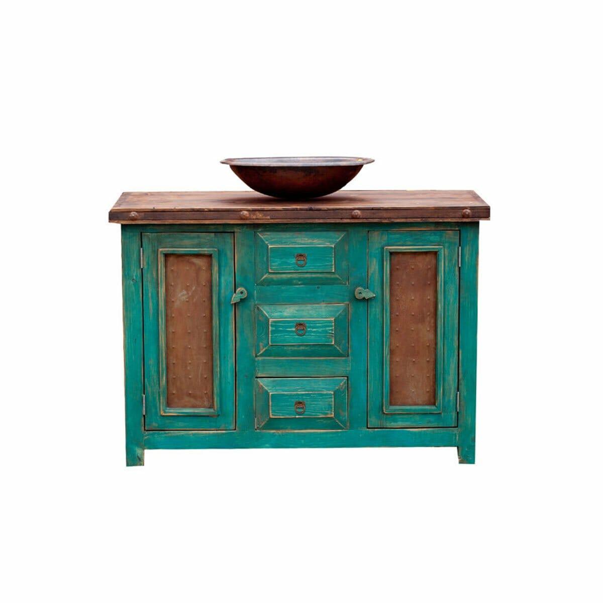 Custom Bathroom Vanities Turquoise 15514