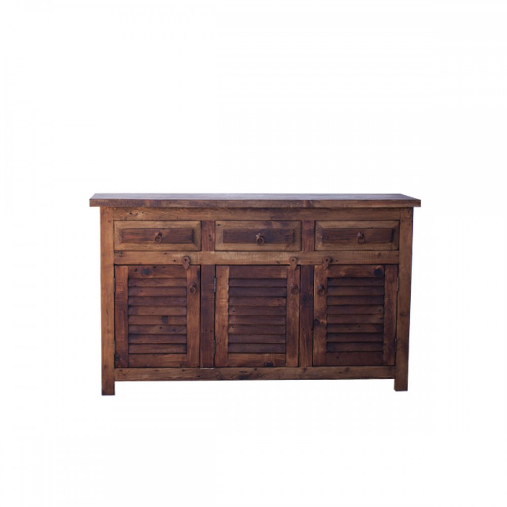 Old Wood Bathroom Vanity with Plantation Shutter 99021