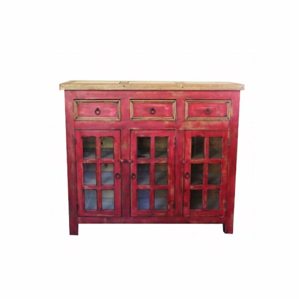 Distressed Red Vanity 34533