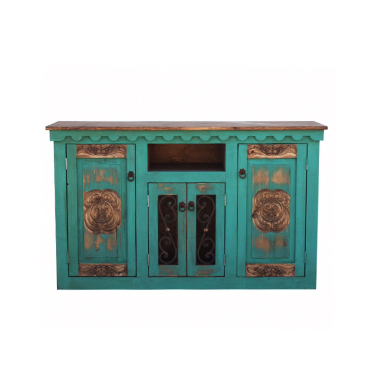 Buy Hand Carved Rustic Turquoise Vanity Online