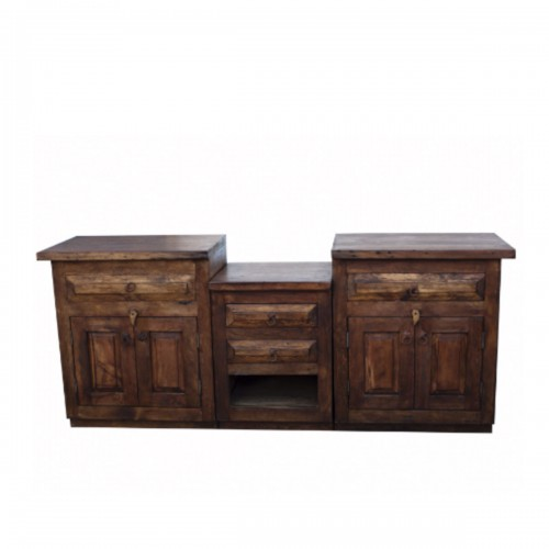 Double Sink Vanity from Reclaimed Wood
