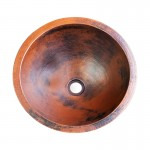 Round Copper Sink