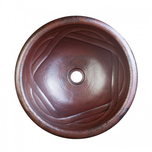 swirl copper sink