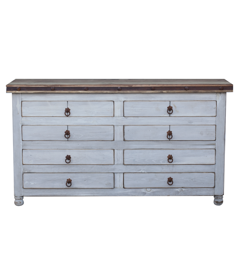 Buy White 8 Drawer Vanity Crafted From Solid Wood