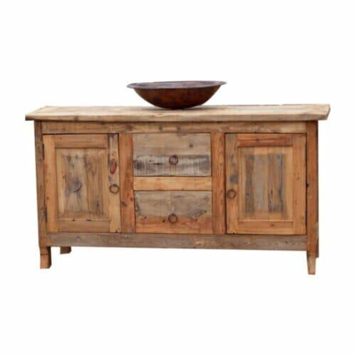raw barnwood vanity