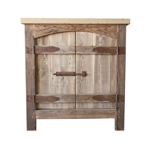 mission vanity reclaimed wood
