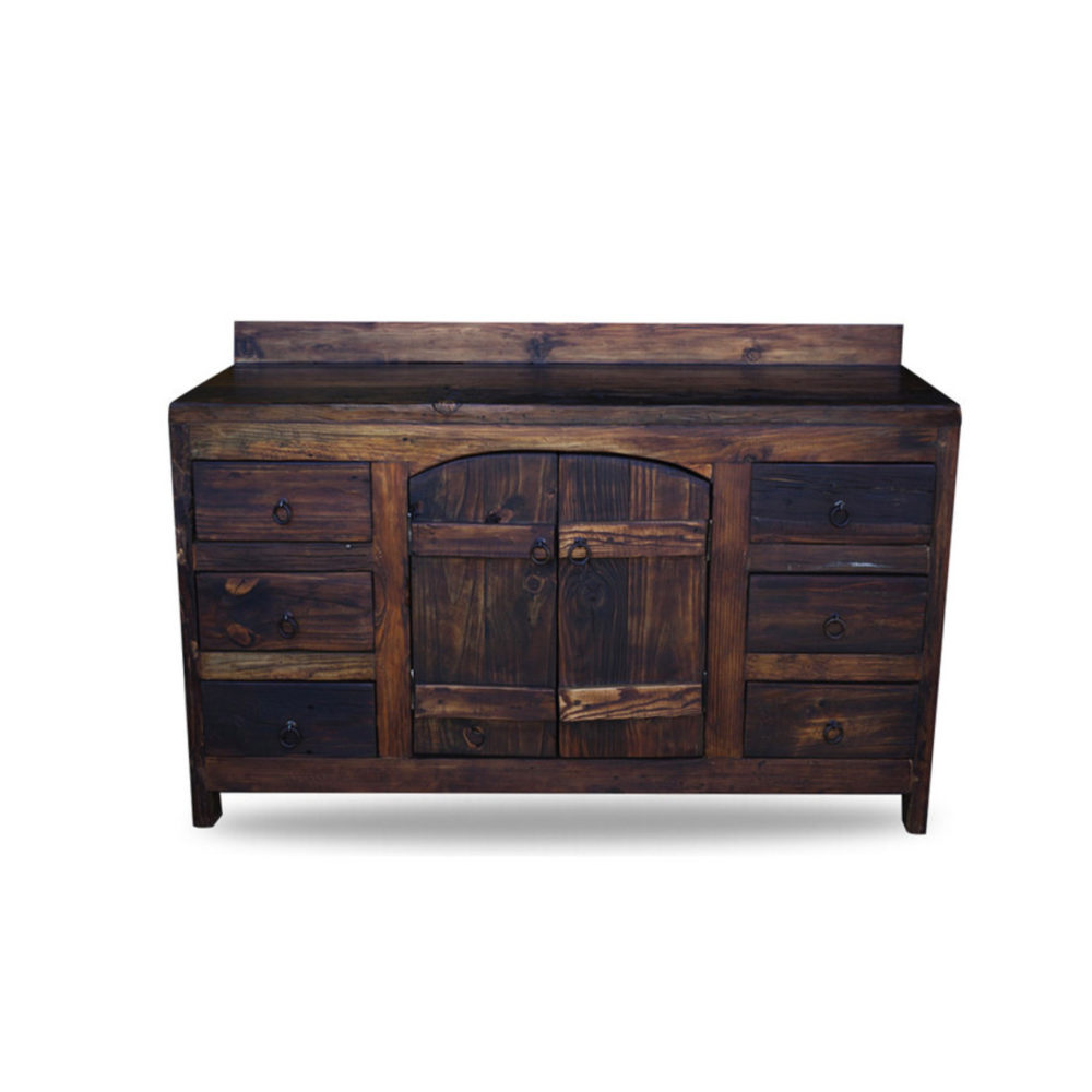 Order old world vanity from reclaimed barnwood online Used bathroom vanity with sink