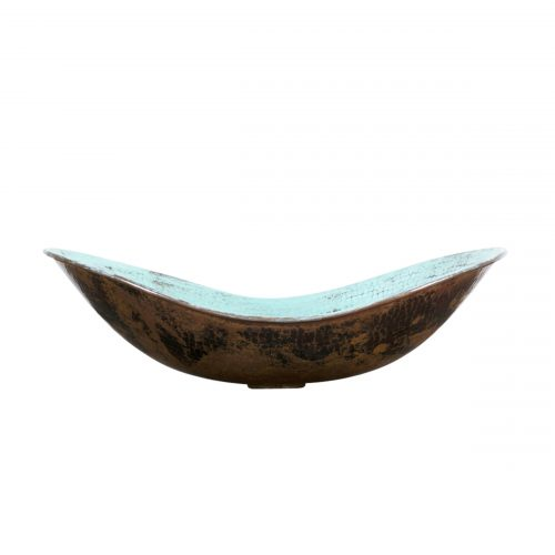 sleigh vessel copper sink