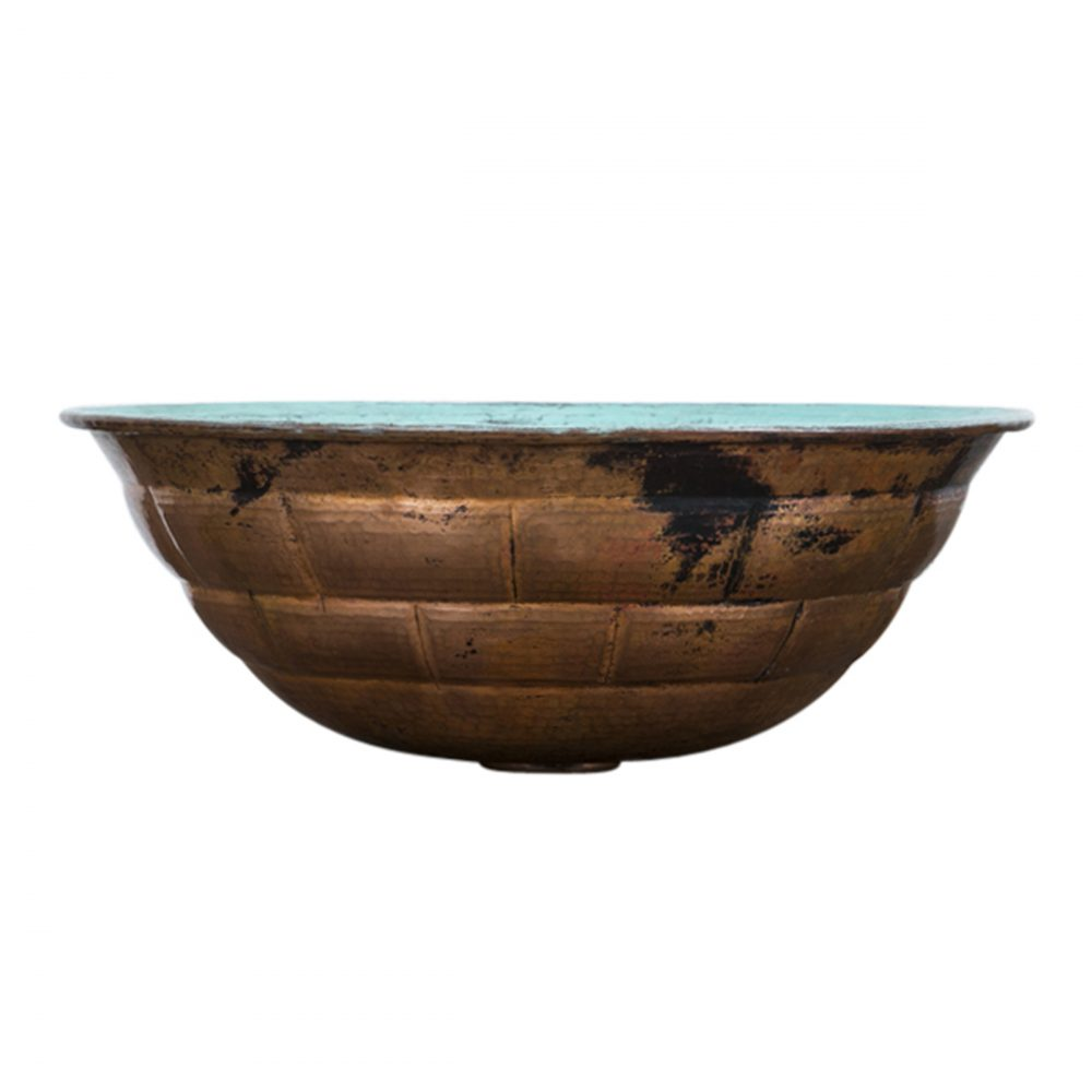 turquoise turtle shell copper sink