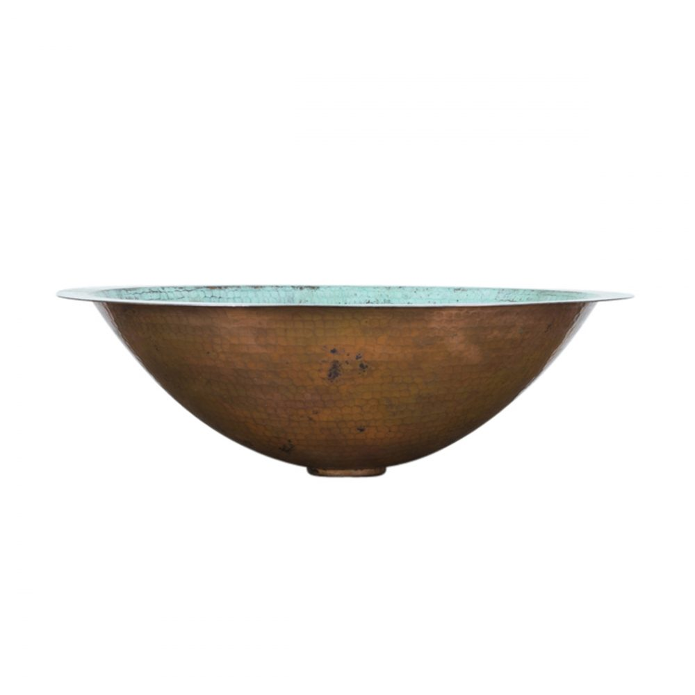 Turquoise Oval Vessel Copper Sink