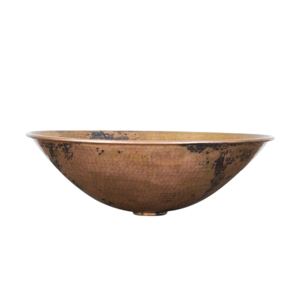 Oval Vessel Copper Sink