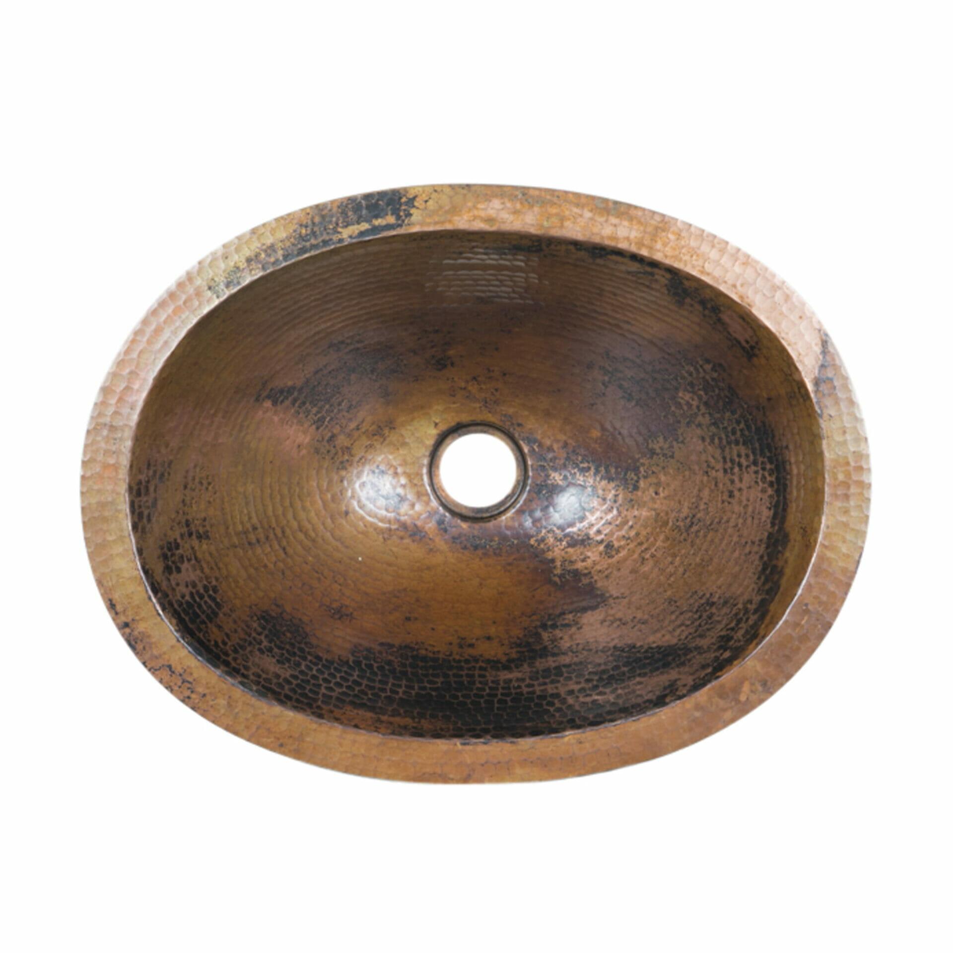 Oval Copper Drop In Sink