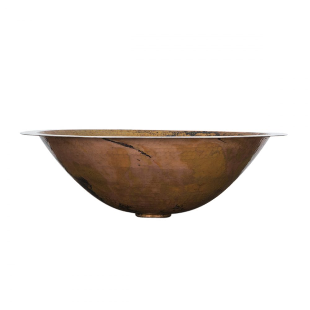 Oval Copper Drop In Sink
