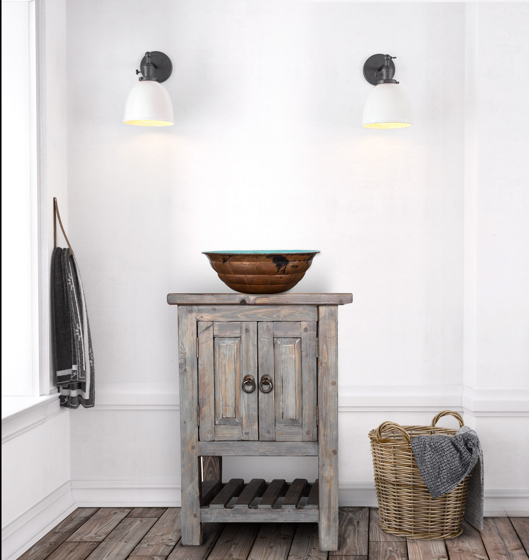 Buy robertson reclaimed bathroom vanity online - Bathroom vanities for small bathrooms ...