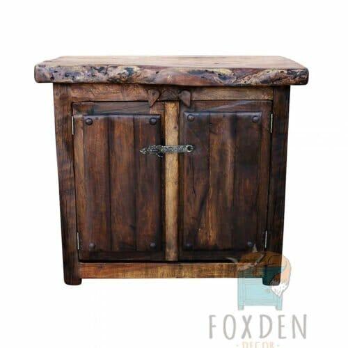rustic mesquite bathroom vanity