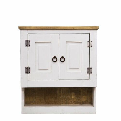 white medicine cabinet