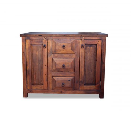 3 drawer rustic vanity