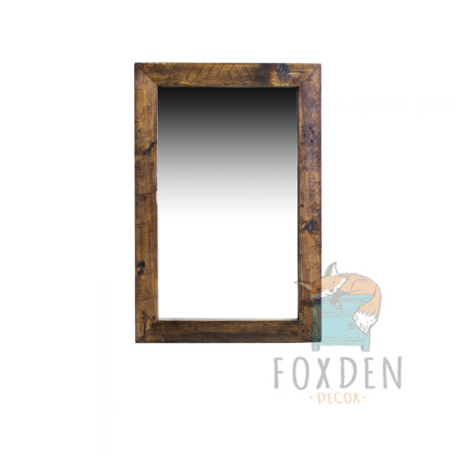 Buy live edge mesquite mirror online for Reclaimed wood online