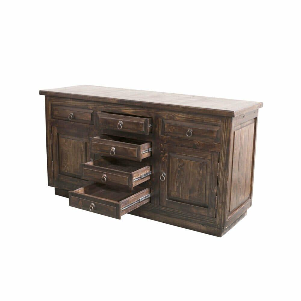 double sink barnwood console